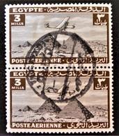 ROYAUME - POSTE AERIENNE 1933/38 - BELLE OBLITERATION SUR PAIRE VERTICALE - YT PA 7 - Egypt