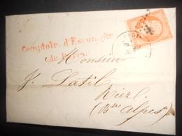 France Napoleon , Lettre De Paris 1864 Pour Riez - 1862 Napoleon III