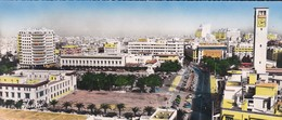 MAROC---RARE---CASABLANCA--avenue D'amade Et Place Lyautey--( Grande Cate 22 Cm +9 Cm )--voir  2 Scans - Casablanca