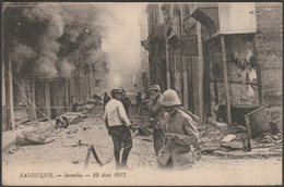 Incendie, Salonique, 1917 - CPA - Greece