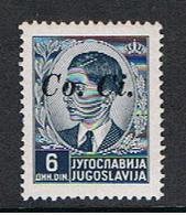 LUBIANA - OCCUPAZ. ITALIANA:  1941  SOPRASTAMPATO  -  6 D. GRIGIO  N. -  SASS. 10 - 9. WW II Occupation (Italian)