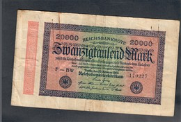 Germania Germany 1922 20000 Mark Bb  LOTTO 505 - [ 5] 1945-1949 : Allies Occupation