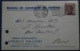 Carte Commerciale PADOUE Pour PARIS. 1928 - 1900-44 Vittorio Emanuele III