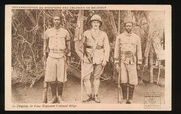 COLONIES BELGES -   LE DRAPEAU DE 4eme Regiment Colonial Belge - Guerre 1914-18