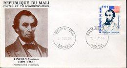33928 Mali,  Fdc   1984  Abraham Lincoln - Unabhängigkeit USA