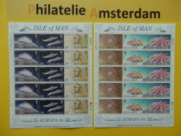 Isle Of Man 1994, FULL SHEET / EUROPA / FAUNA: Mi 587-92, ** -KB - Europa-CEPT