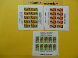 Dahomey 1968, FULL SHEET / EUROPE-AFRIQUE: Mi 349-51, ** -KB - Benin - Dahomey (1960-...)