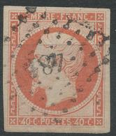 Lot N°42492  N°16, Oblit PC 481 Bourges, Cher (17), Belles Marges - 1853-1860 Napoléon III
