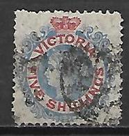 VICTORIA   -   1868  .  Y&T N° 64 Oblitéré. - 1850-1912 Victoria