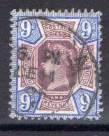 GRANDE-BRETAGNE ( POSTE ) : Y&T N°  101  TIMBRE  TRES  BIEN  OBLITERE , A  VOIR . - 1840-1901 (Viktoria)