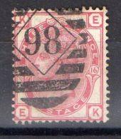 GRANDE-BRETAGNE ( POSTE ) : Y&T N°  51  TIMBRE  TRES  BIEN  OBLITERE , A  VOIR . - 1840-1901 (Viktoria)