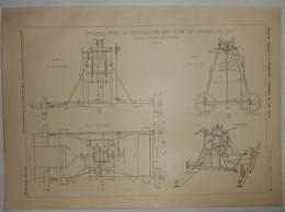 Plan De L'appareil Pour La Vérification Des Voies De Chemins De Fer. Système Dorpmuller Baudson. 1905. - Public Works
