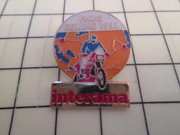 Pin313a Pin's Pins / Beau Et Rare / THEME MOTOS : MOTO RALLYE PARIS-BEIJING 1992 INTERAMA - Motorbikes