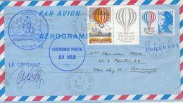 TRANSPORTS, SAPMER AUSTRAL FISHING SHIP SPECIAL POSTMARKS, MARIANNE, AEROGRAMME, 1983, FRANCE - Bateaux