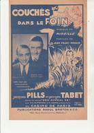 """PARTITION MUSICALE """" COUCHES DANS LE FOIN """" MUSIQUE DE MIEILLE ET PAROLES DE JEAN NOHAIN -1932 - Partituras"""