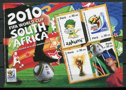 Peru 2010 / Football FIFA World Cup South Africa MNH Fútbol Copa Mundial Sudáfrica / Cu8032  41 - Wereldkampioenschap