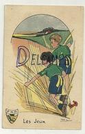 Scouts Dans Les Blés. Ecusson F.N.P. Les Jeux. Signée Marie Jaminet - Scoutisme