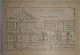 Plan D'un Groupe Scolaire. Ecoles De Garçons Et De Filles. A Saint Ouen L'Aumône En Seine Et Oise. 1905. - Public Works