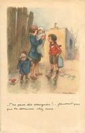 Illustration Signée  Poulbot -  T ' As Peur Des Araignées           S 1085 - Poulbot, F.