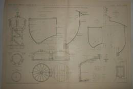 Plan Des Réservoirs En Béton Armé Construits Sur Les Chemins De Fer Russes. 1905. - Public Works
