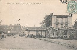 17 // SAINTES   Sortie De La Gare, Hotel Du Chalet    Edit J Prévost - Saintes