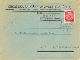 28626. Carta Postablage, Post Agentur SCHMOLE (Checoslovaquia) 1939. Hohenstadt - Czechoslovakia