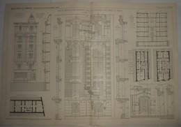 Plan D'une Petite Maison De Rapport, Rue Des Prairies à Paris. 1905. - Public Works