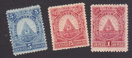 Honduras, Scott #42, 45, 50, Mint Hinged, Arms Of Honduras, Issued 1890 - Honduras