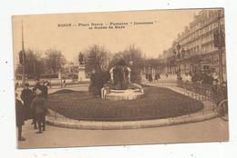Cp, Publicité , Moutarde De Dijon , J. Parizot , 21 , Place Darcy , Fontaine Jeunesses Et Statue De Rude, Vierge - Publicité