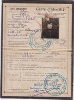 ALGER 1922 / RARE CARTE D'IDENTITE POUR PAYEMENT PENSIONS ET RENTES VIAGERES - Documents Historiques