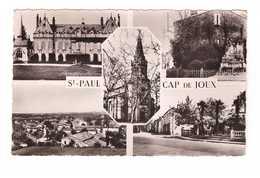 81 Saint Paul Cap De Joux Cartes 5 Vues Chateau Scalibert Monument Morts Eglise CPSM PF Cachet Daguin St Paul 1955 - Saint Paul Cap De Joux