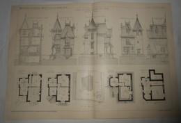 Plan D'une Villa à Triel En Seine Et Oise. 1905. - Public Works