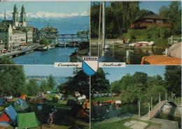 Zürich - Camping Seebucht Mit Restaurant Chalet - Photoglob - ZH Zurich