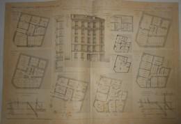 Plan D'une Maison De Rapport, Rue De La Mairie à Puteaux. Seine. 1905. - Public Works