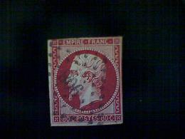France, Scott #20,used (o), 1860, 2nd French Empire, Emperor Napoleon III, 80 Centimes - 1853-1860 Napoleon III