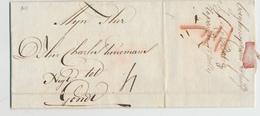 612/26 - PAYS-BAS NETHERLANDS - Lettre Précurseur BERGEN OP ZOOM 1789 Vers GENT - BoZ Au Crayon Rouge - Taxée 4 Stuivers - Pays-Bas