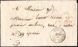 France Lettre Envoyée De Château-Chinon Vers Paris En 1852 (lettre Taxée) - Marcophilie (Lettres)