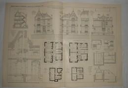 Plan D'une Villa à Enghien En Seine Et Oise. 1905. - Public Works