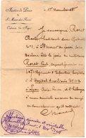 VP12.028 MILITARIA - Police - JOINVILLE LE PONT X SAINT MAUR - Lettre Concernant Le Soldat P. RORET à L'Hopital De LYON - Police & Gendarmerie
