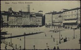 SIENA Piazza Vittorio Emanuele - Viaggiata Nel 1914 Formato Piccolo - Siena