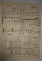 Plan De Nouvelles Ecoles à Antony. Seine. 1905. - Public Works