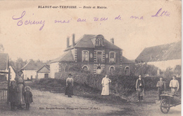 62  BLANGY SUR TERNOISE  - Ecole Mairie  - CPA  N/B 9,5x14 BE - Altri Comuni
