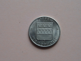LOPPEM - 1984 Kasteel LO ( 100 Lophout ) Zilverkleurig ! - Jetons De Communes