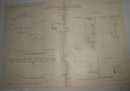 Plan Du Chemin De Fer Métropolitain De Paris. Ligne N°3 Du Boulevard De Courcelles à Ménilmontant. 1905. - Public Works