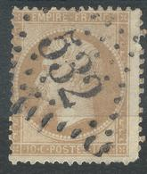 Lot N°42519  Variété/n°21, Oblit GC 532 Bordeaux, Gironde (32), Piquage - 1862 Napoléon III