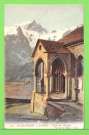LA GRAVE / EGLISE DES TERRASSES / VUE SUR LA MEIJE. ..... Carte écrite En 1908 ( 110 Ans ) - Briancon