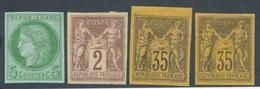 BZ-252: COLONIES GENERALES: Lot  1er Et 2ème Choix Avec N°17*-38*(lourde)-45*-45*pli - France (ex-colonies & Protectorats)