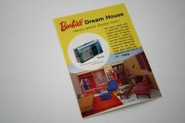 """Barbie Accesoires '50-'60 -  Leaflet """"Barbie's Dreamhouse"""" - 1962 - 1 Page - Original Vintage Barbie - Ken - Ricky - - Barbie"""