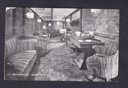 Bateau Paquebot S.S. Drottningholm Writing Room Swedish American Line Gothenburg Sweden - Paquebots