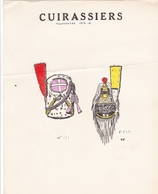 19 MAGNIFIQUES PLANCHES UNIFORMOLOGIQUE CUIRASSIERS TROMPETTE 1809.1810 COLOREES A LA MAIN / TRES BEAU PAPIER  / RARE ++ - Uniformes